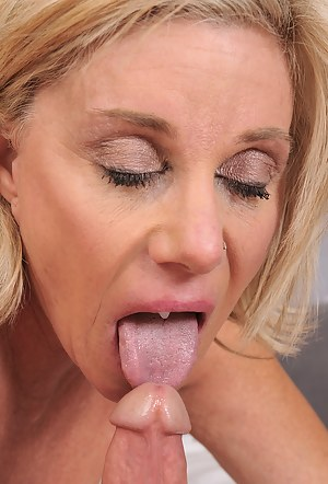 Cum in MILF Mouth Porn Pictures